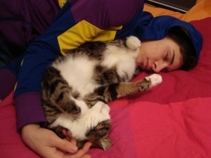 Lukas and Aslan sleeping