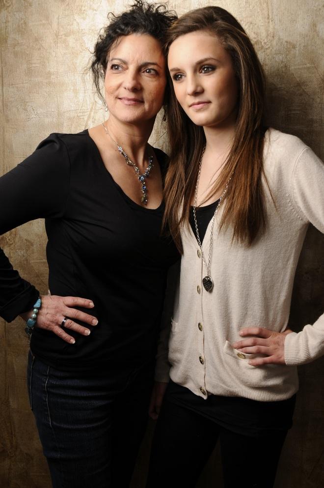 Mom and Linnea heads
